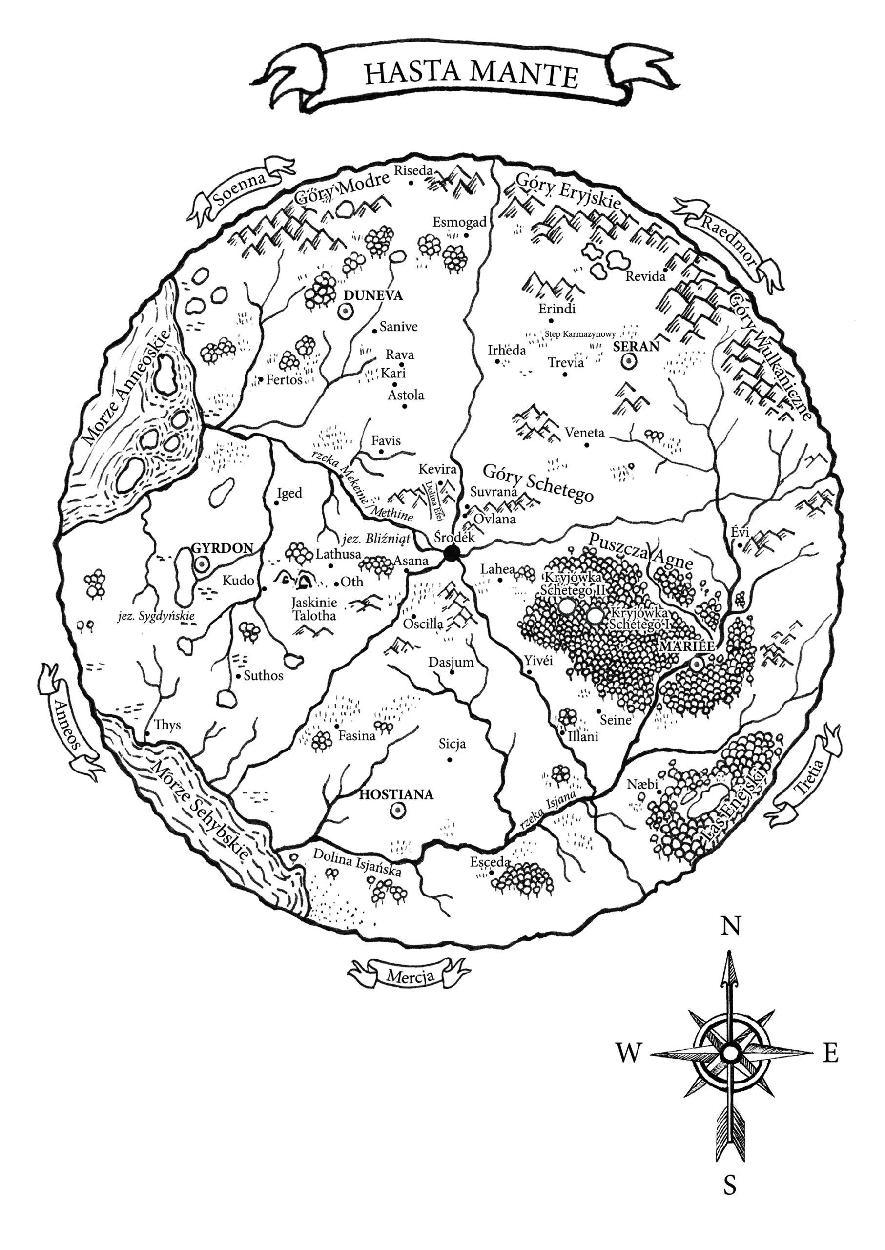 Mapa Hasta Mante